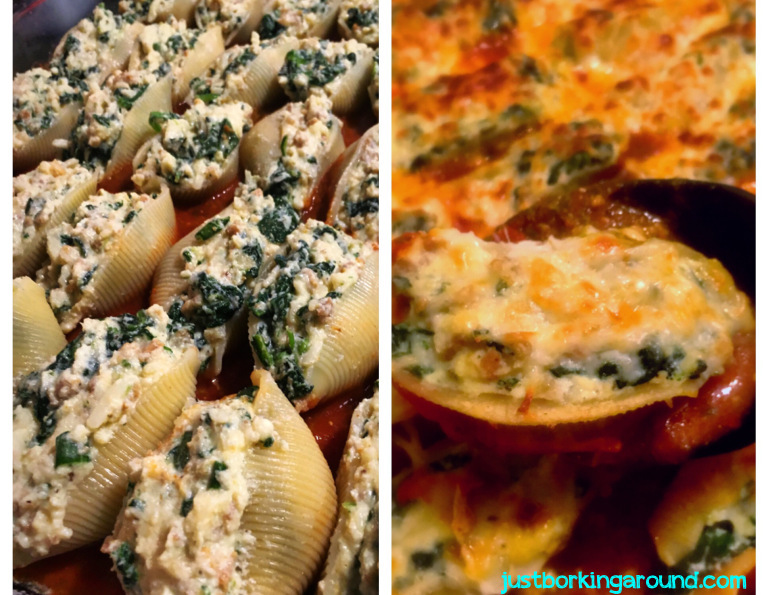 sausage-and-spinach-stuffed-shells
