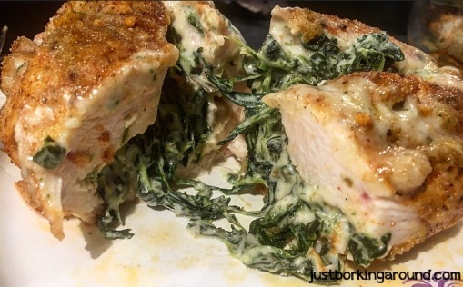 spinach-dip-stuffed-chicken